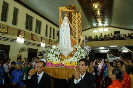 tượng đức mẹ fatima thánh du